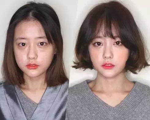 所以剪短发还是要斟酌自己的脸型!不同的脸型搭配不同的发型才会好看!