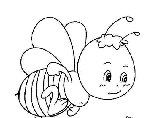 7款蜜蜂主题简笔画,家长请收好,帮助孩子学习蜜蜂知识!