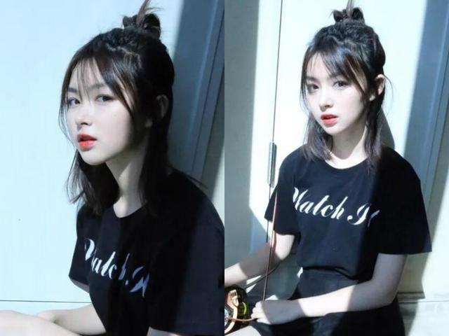 18张可爱又迷人的韩式短发半扎式发型头发型丸子张辛苑步骤法梳图片
