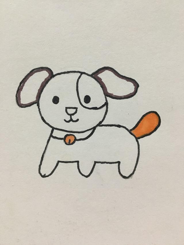 简笔画 小狗的画法