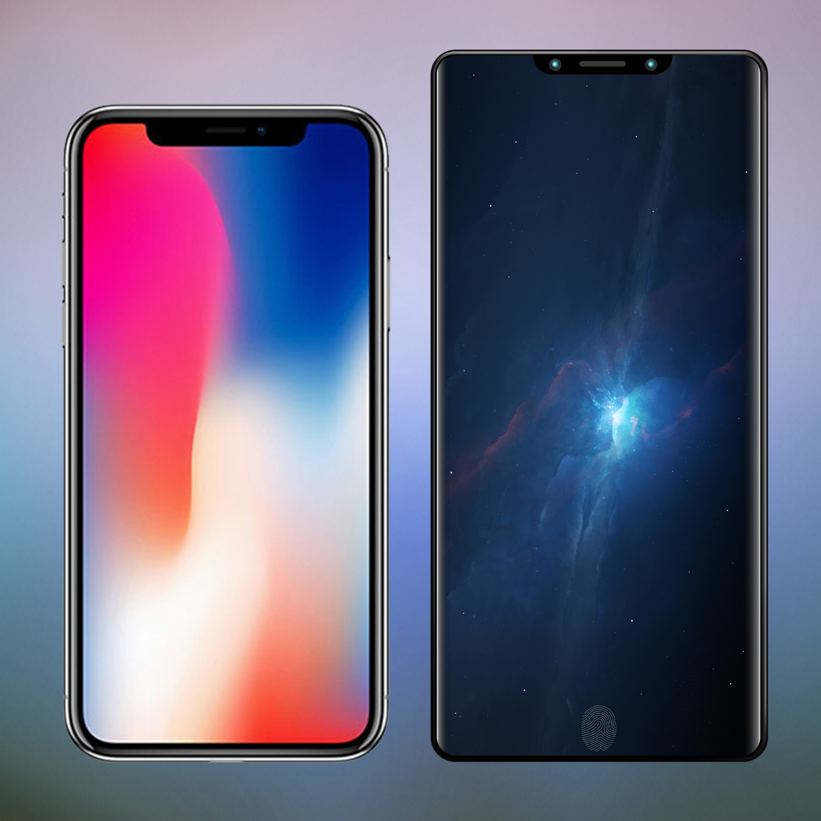 刘海屏!概念版索尼xz2s对比iphone x图片