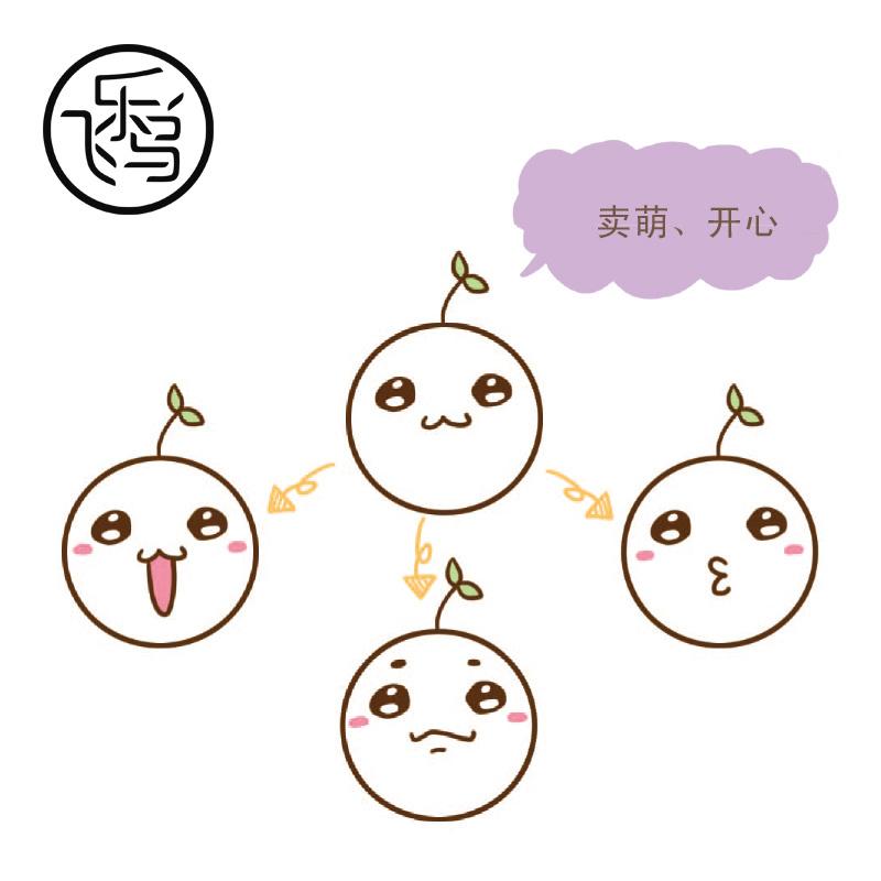 萌萌哒简笔画Q表情,素材出自飞乐鸟 超赞的 激萌爆笑简笔画