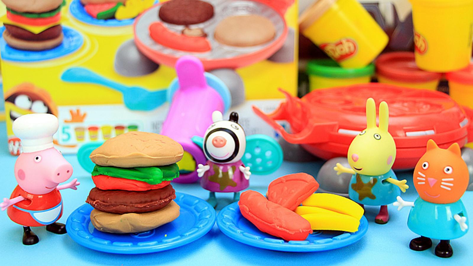 小猪佩奇橡皮泥玩具 趣味橡皮泥汉堡