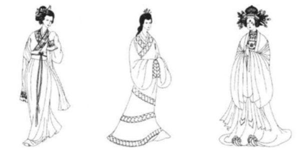 简笔画手绘线稿580_773竖版竖屏 人物手绘超可爱的简笔画女孩古风汉服
