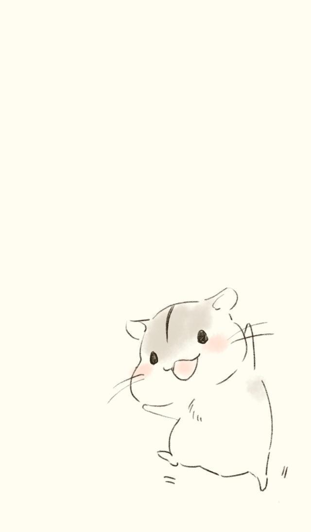 高清无水印壁纸 都是超可爱的卡通版小仓鼠 快快收去