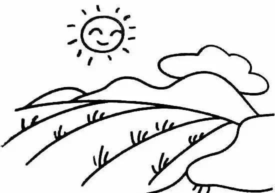 儿童简笔画 画一幅山水田园风景画,让孩子与自然更亲近