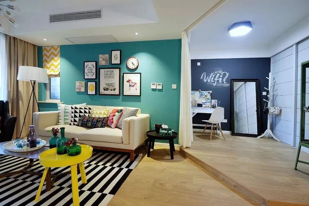 现代北欧风格90平米装修效果图客厅