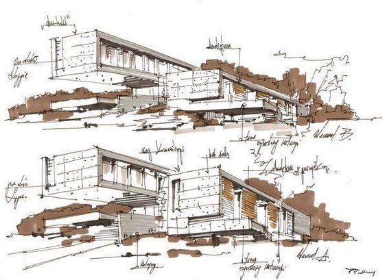 建筑设计丨手绘分析图