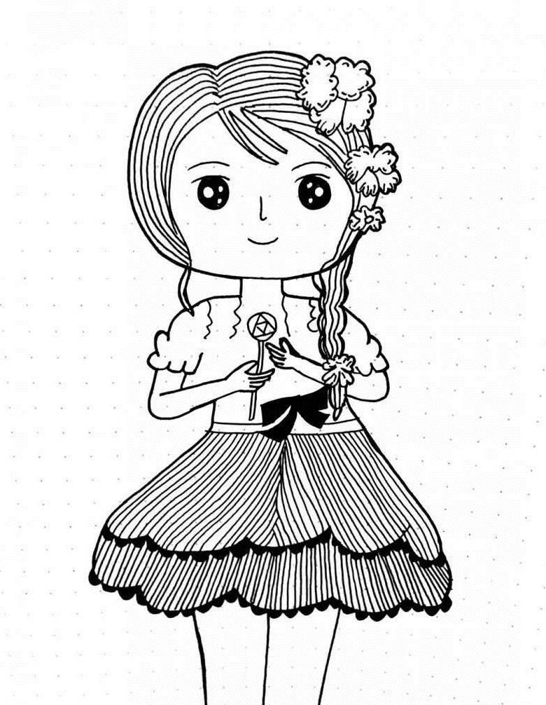 四川锦里的手绘简笔画