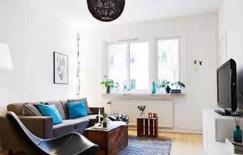 欧式家居装修效果图:房子户型简单,布局紧致,厨卫,客厅,卧室都有了