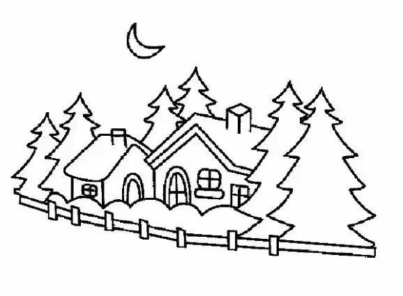 儿童简笔画:画一幅山水田园风景画,让孩子与自然更亲近!