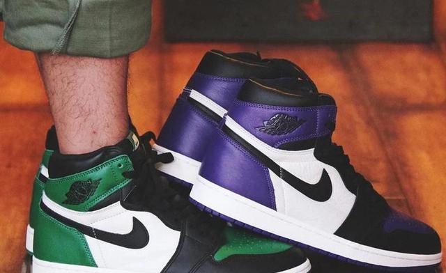 """这个新的""""宫廷紫色""""不妨仔细看看以上细节图,AJ1 """"黑紫脚趾"""""""