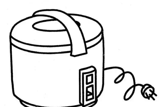 电饭锅产品手绘