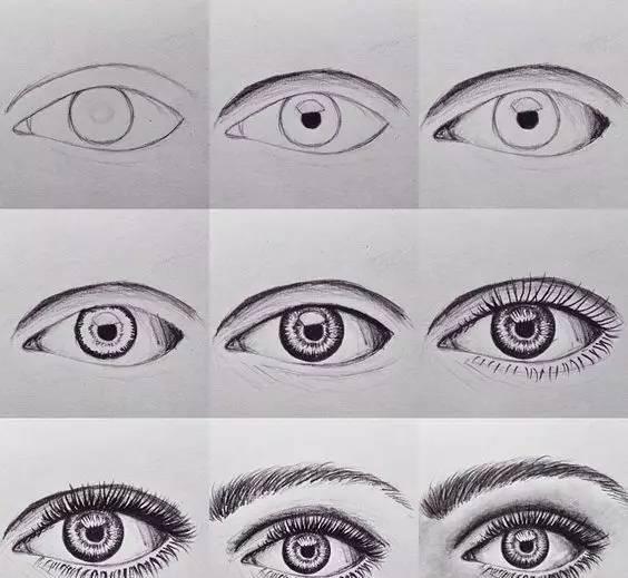 60+眼睛的画法