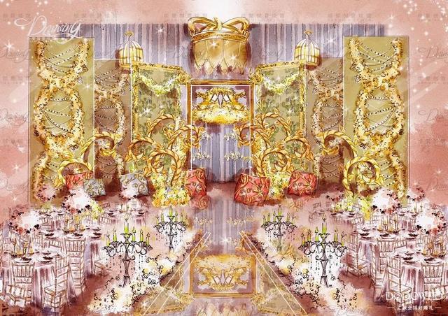 dodowed婚礼手绘推荐系列之绘聚欧式风格婚礼手绘作品