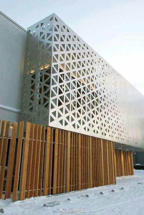 建筑时尚,艺术感的外立面表皮设计