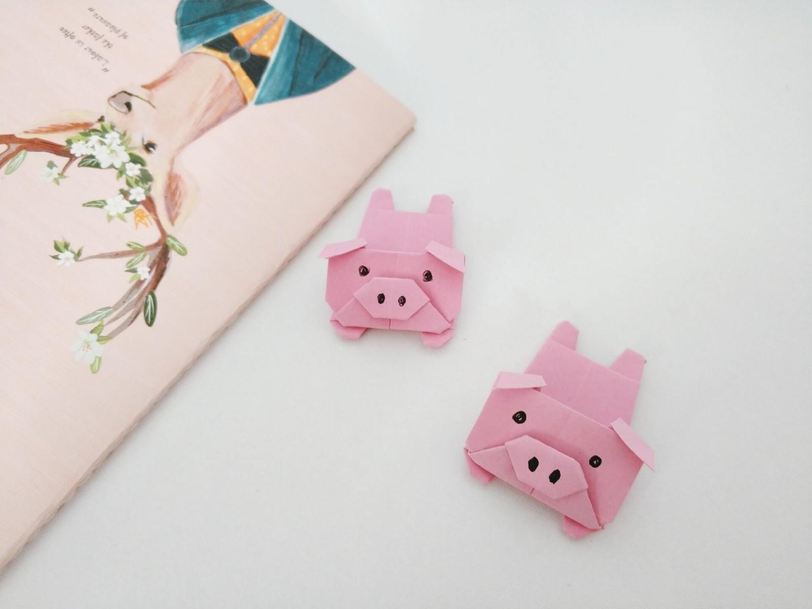 超级可爱的折纸小猪,做起来还是很简单的哦,香香居们快快学起来吧