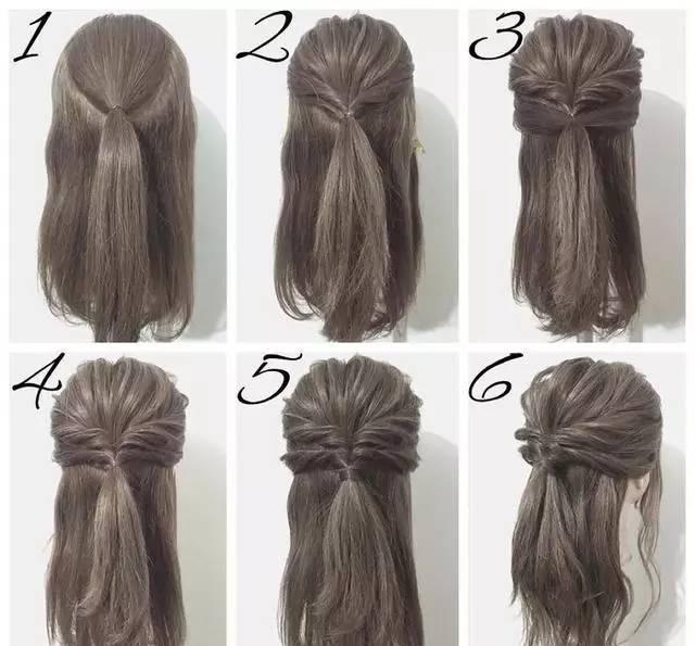1到4,可以作为一款独立的发型呦,很有欧式风范~~~ 1~6又可以作为清爽图片