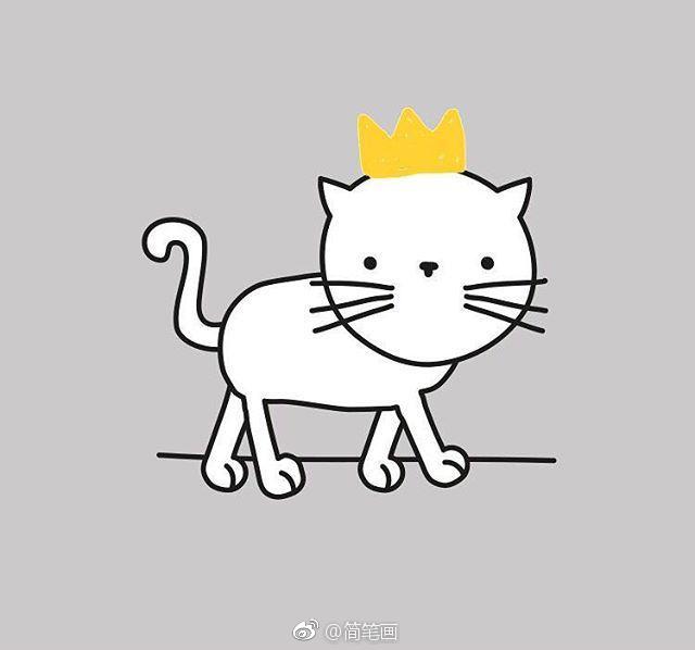 可爱的猫咪简笔画(by:ankepanke)