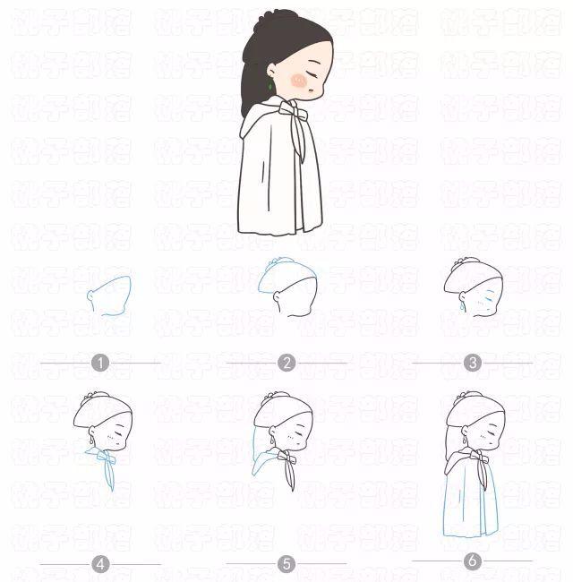 【绘画教程】q版简笔画迪丽热巴,又美又萌!