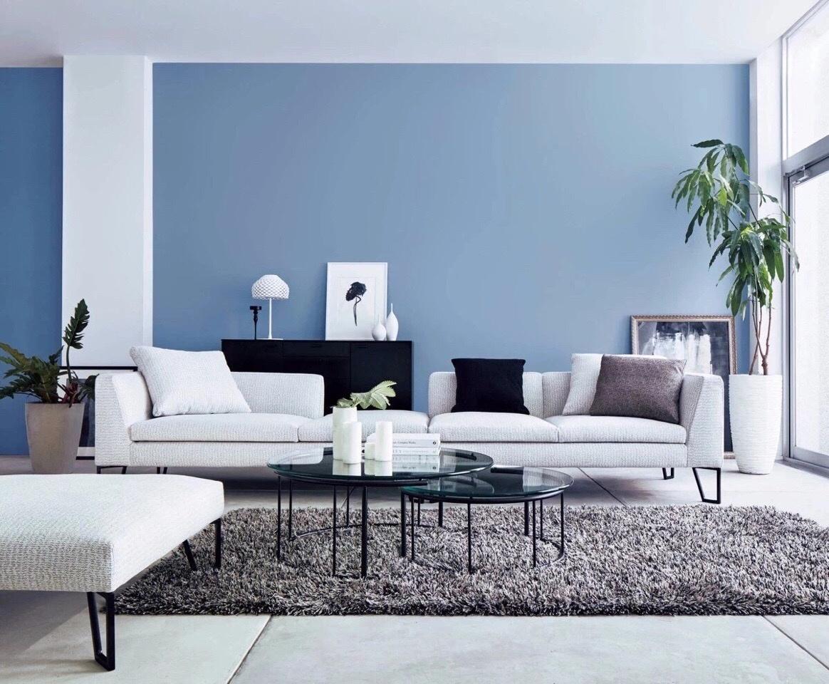 房屋系看点v房屋_新浪蓝色三层五间客厅设计图图片