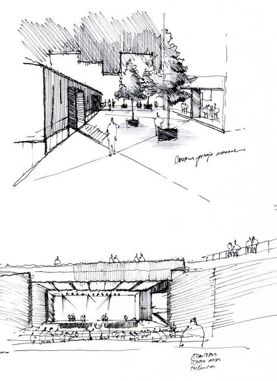 建筑手绘草图