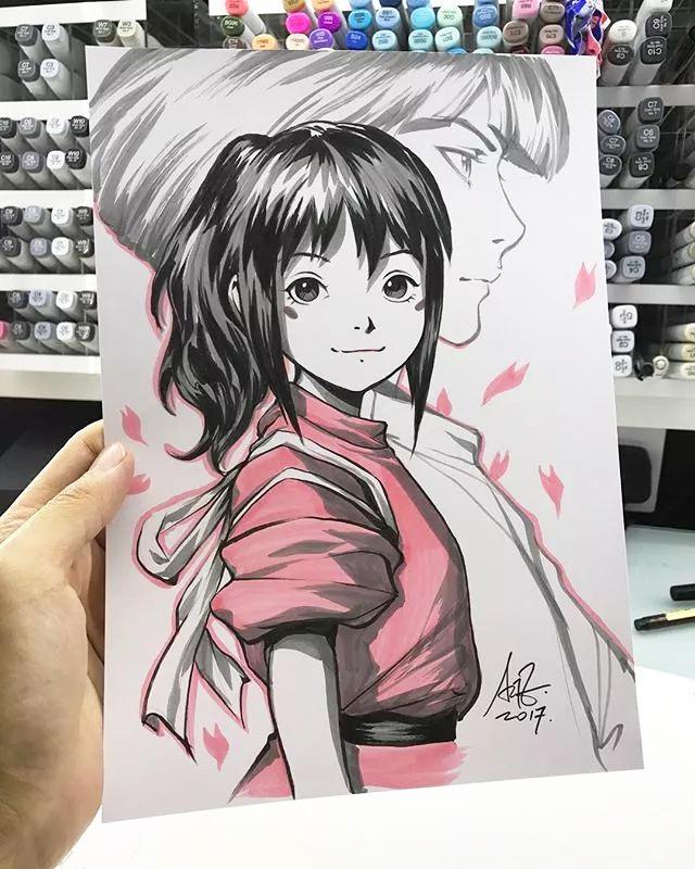 马克笔手绘动漫人物,线条流畅感超强   新加坡华裔漫画大神 artgerm