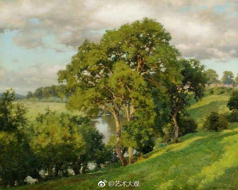 英国画家alfred parsons风景油画作品欣赏