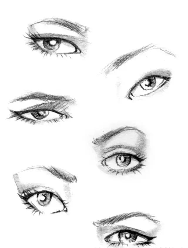 手绘时装效果图中眼睛的画法