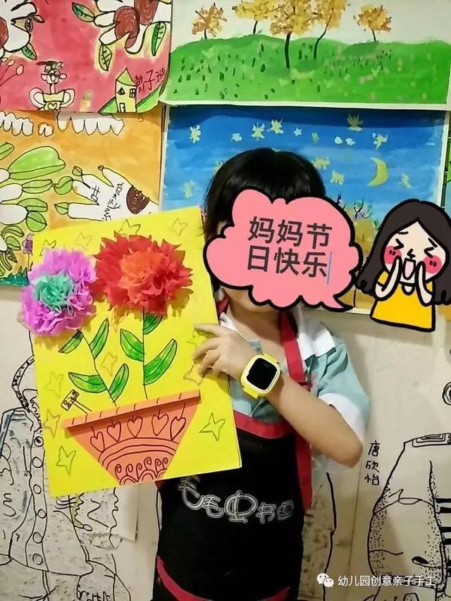 幼儿园创意美术:画中有话,这样的母亲的礼物,哪位妈妈图片