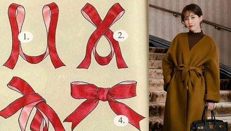 大衣腰带的系法图解 手把手教你时尚搭配
