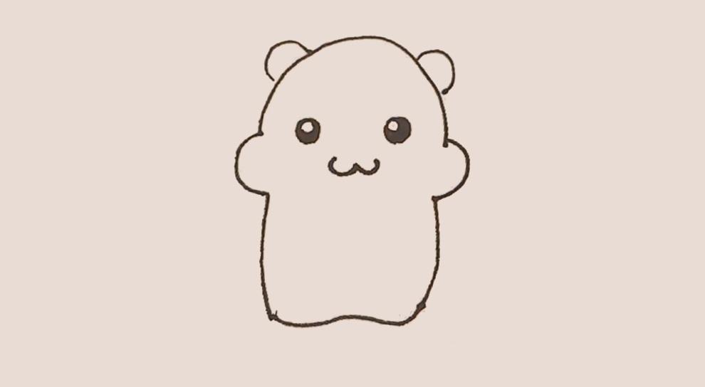 熊孩子光玩手机, 快来教他画简笔画仓鼠! !
