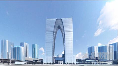 苏州裤衩楼_东方之门位于江苏苏州市,总高度超三百米,于2004年开工,2015年封顶