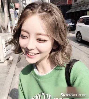 女生中分编发齐肩发发型 梳短发的女孩子,哪种发型最能凸显魅力呢?