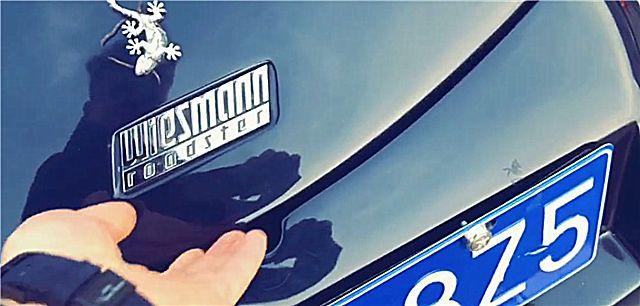 """北京偶遇一辆310万威兹曼跑车,车标是""""蜥蜴"""",尾灯有8个!"""