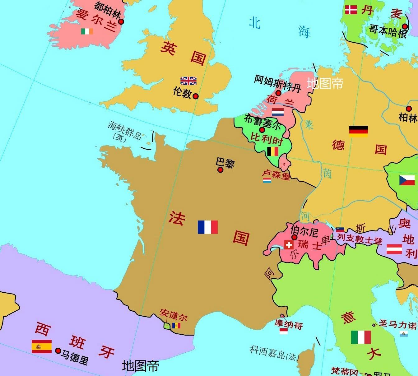 通过卫星地图看安道尔,袖珍国家之一,却需要邻国的保护?