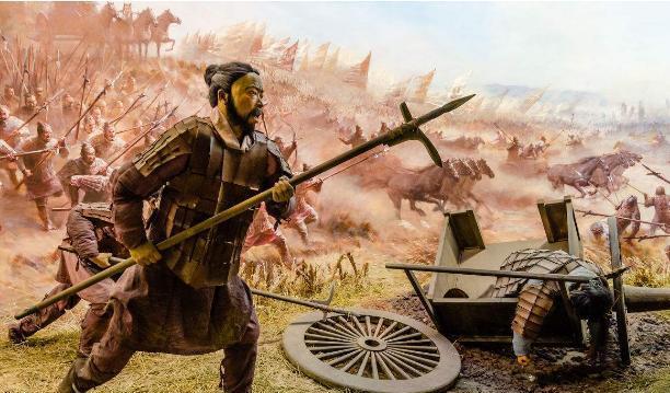 古代战场帐篷手绘