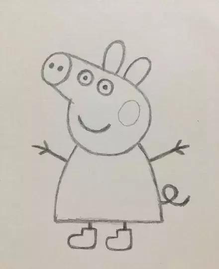 师讯网推荐——幼儿园儿童铅笔简笔画:小猪佩奇新潮画法详解