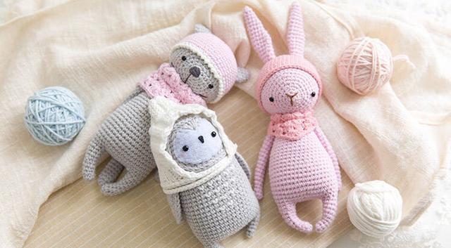 钩针编织欣赏:罗圈腿家族的钩针动物们,可爱哒哒