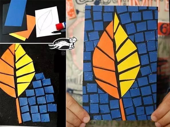 幼儿园手工之卡纸粘贴画 超级有创意, 小班到大班的玩法都有图片
