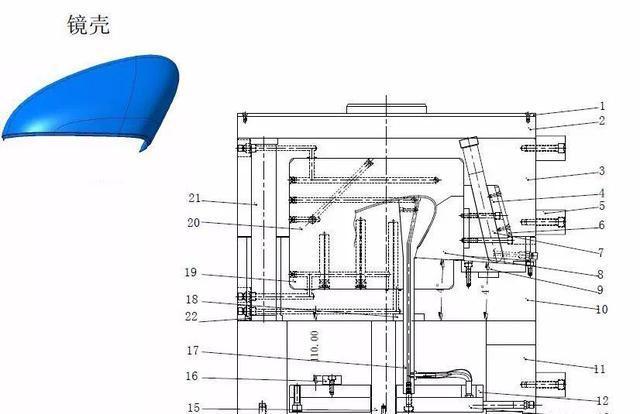 模具结构:后模斜行位
