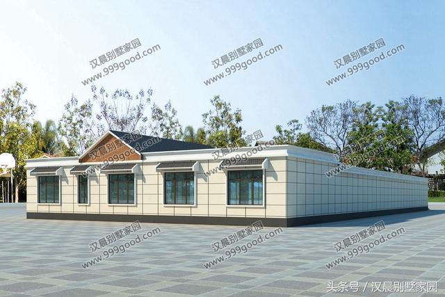 2栋农村三合院,中式和现代布局的结合,一层别墅让生活图片