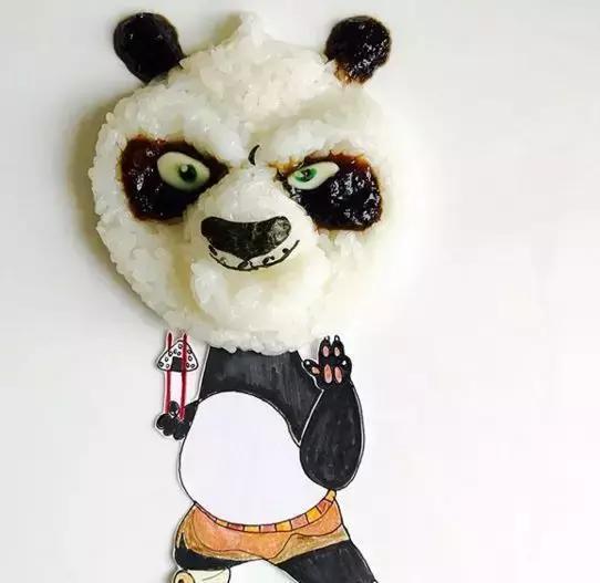熊猫饭团图片手绘
