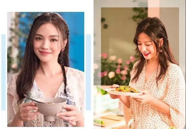 微博上看到了《中餐厅》的宣传照,赵薇和舒淇的侧编发太少女了,减龄