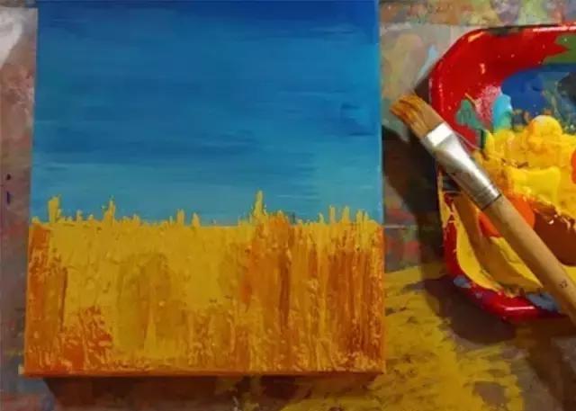 蓝色逐渐变浅 相关阅读: 幼儿园亲子手工之粘贴画:豆子谷物橡皮泥,让图片