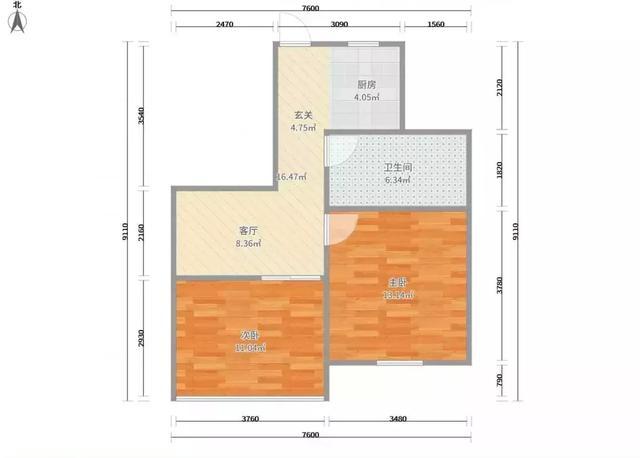 套内47平两室一厅小户型装修,简单过日子的选择!