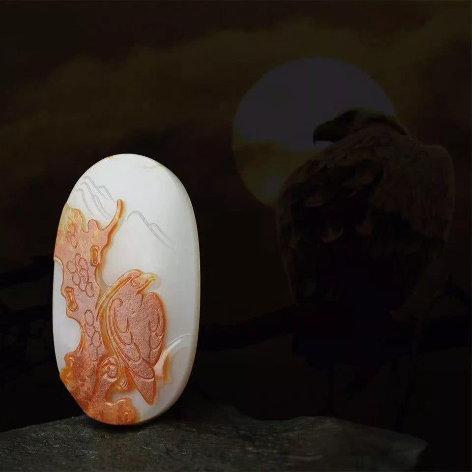 """玉石小鸟被雕""""活"""",戴出去真怕它飞起来"""