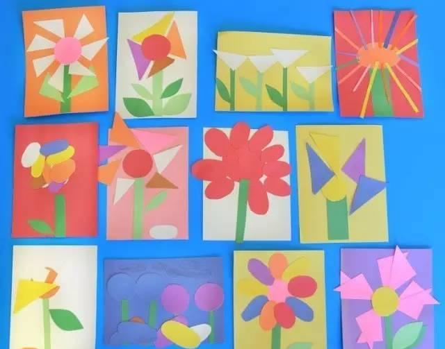 下面以一个房子为例,具体说说怎么玩  【制作步骤】 1、先在白纸上图形简单的图画,如房子、鱼等,避免复杂的细节元素 2、照着图画剪出相对应的卡纸图形  3、在每个图形上画上线图,并进行切分碎片  4、用胶水把碎片拼贴上,就像玩拼图一样  5、用不同颜色的纸剪出小正方形碎片充当背景,必要时可使用三角形填充  一幅马赛克拼图粘贴画就完成了!  再看看这些作品,是不是迫不及待想和孩子一起试试呢!