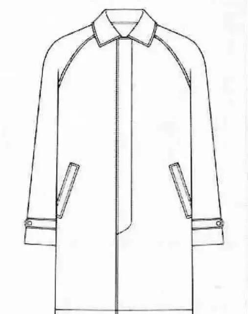 短款外套手绘图