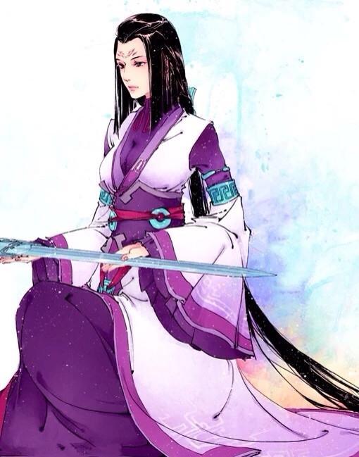 唯美头像丨古风紫衣美女插画,美艳绝伦,丽质天成的古典美人!